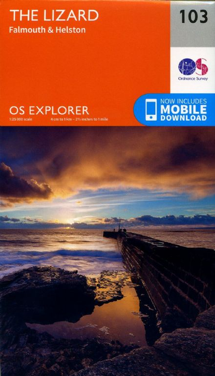 OS Explorer 103 - The Lizard, Falmouth & Helston